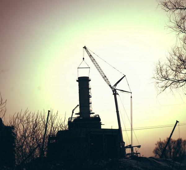 Power plant inside a steel mill